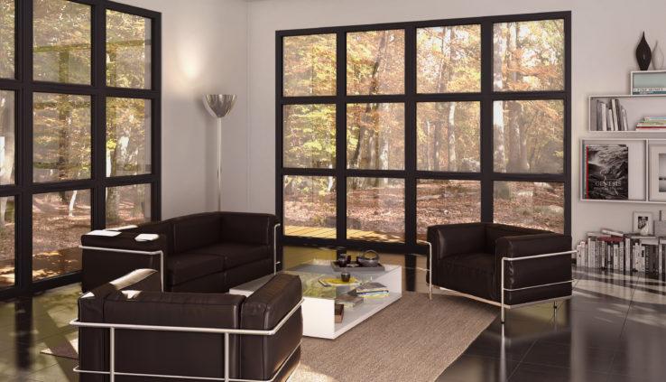 Le noir, LA couleur Tendance 2019 des fenêtres PVC - ChoisirMaFenetre.fr UFME